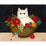 猫の贈り物の絵